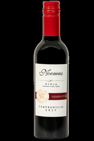 Klein flesje 37,5cl zachte rode wijn Spanje Rioja biologisch vegan tempranillo 375ml Halfes