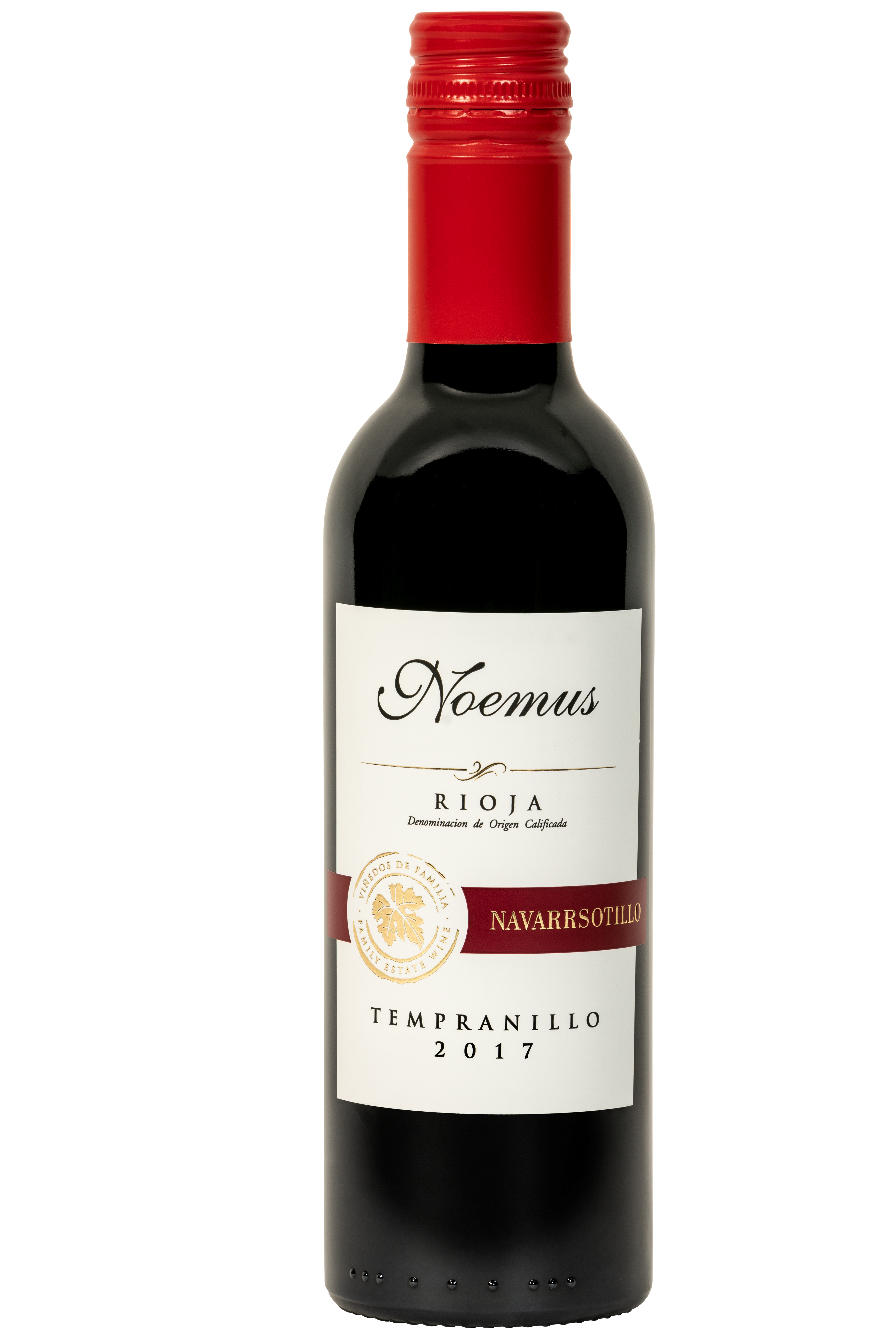 Klein flesje 37,5cl zachte rode wijn Spanje Rioja biologisch vegan tempranillo