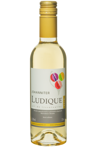 Nederlandse droge witte wijn klein flesje 375ml johanniter Halfes
