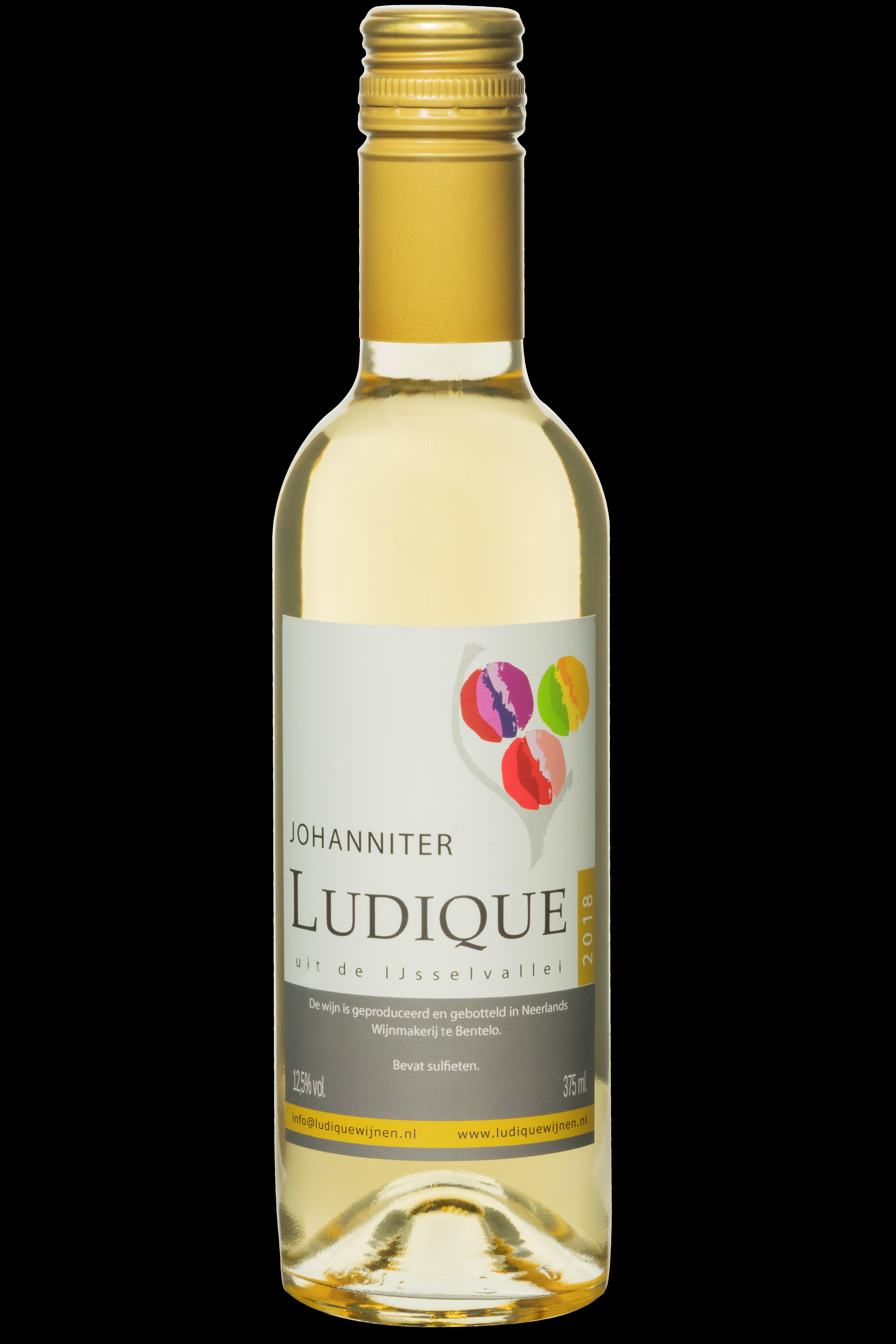 Nederlandse droge witte wijn klein flesje 37,5 johanniter