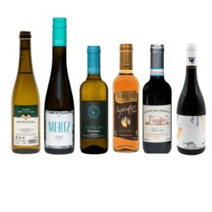 Kleine flesjes wijn wijnpakket