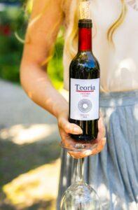 Teoria reserva rode wijn glas