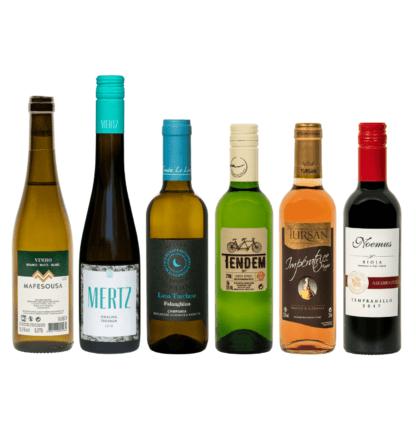 Zomerse kleine flessen wijn