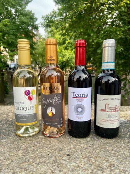 Kleine flessen wijn