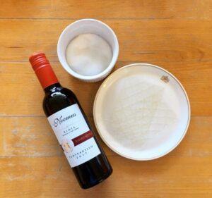 Winegums maken gelatine hout suiker fles rode wijn noemus Halfes