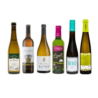 kleine flesjes witte wijn