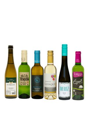 kleine flessen witte wijn