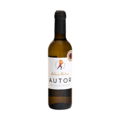 kleine fles witte wijn uit Spanje