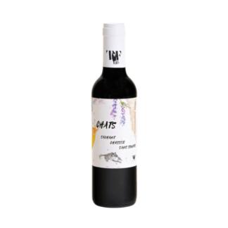 kleine fles rode natuurwijn