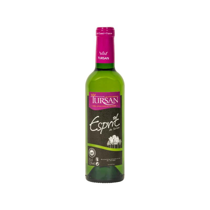 kleine fles Franse witte wijn