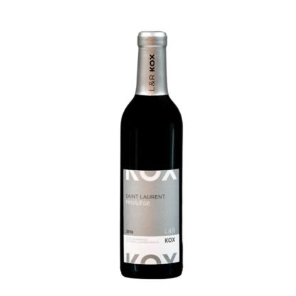 Kleine fles Luxemburgse rode wijn