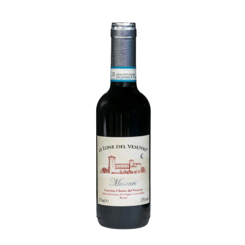 kleine fles Lacryma Christi rode wijn