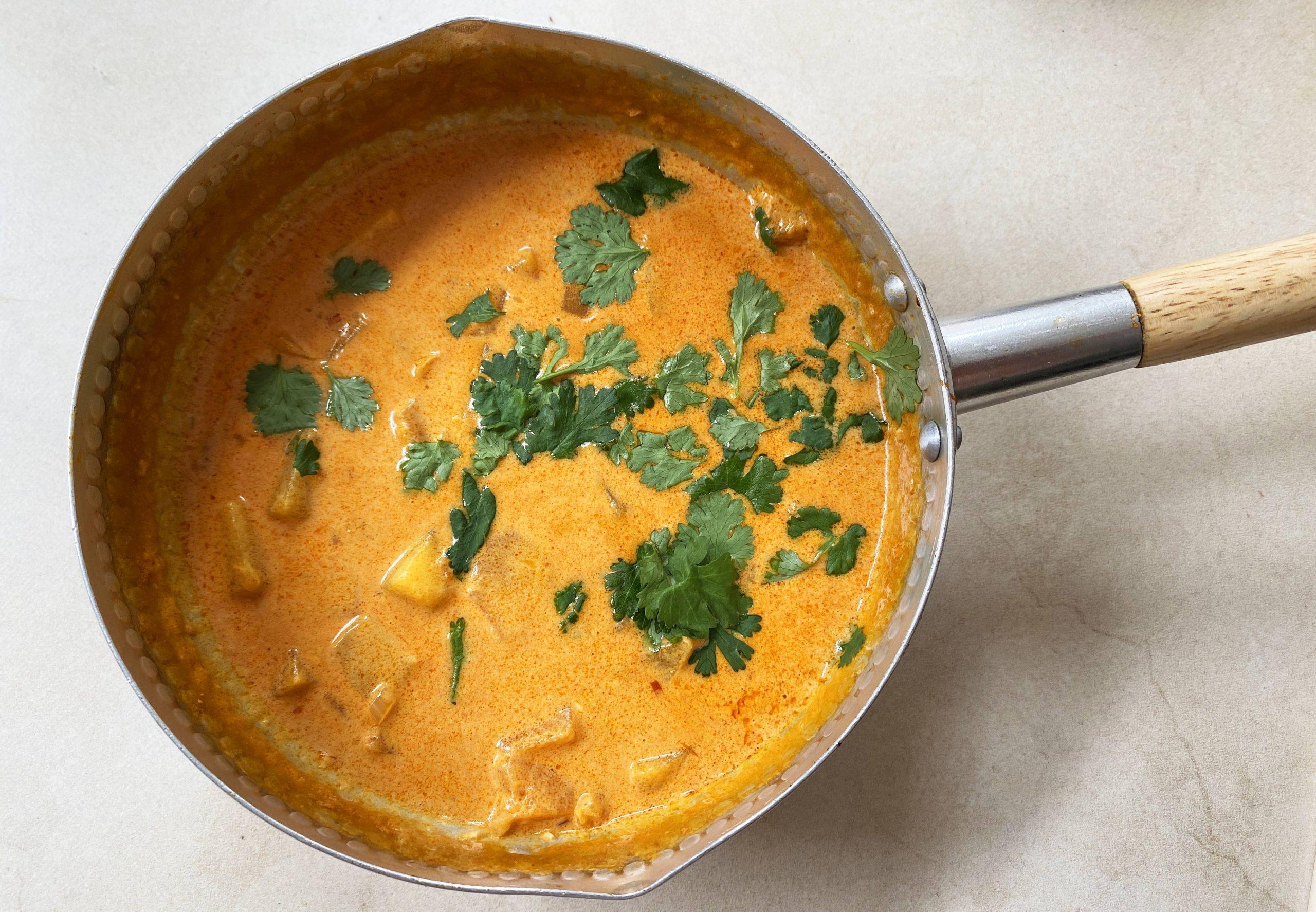 Thaise pompoencurry recept